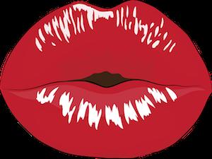 ぶちゅ〜っとした口唇