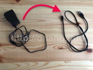A10サイクロンSAと+PLUS(プラス)の充電コード比較