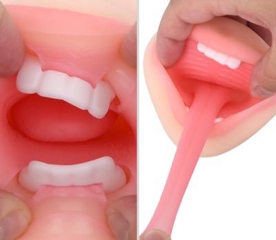 フェラチオ部分には歯やベロもちゃんとある!